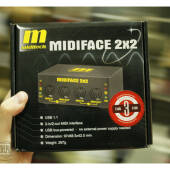 Interfejs audio MIDI/USB Miditech Midiface 2x2